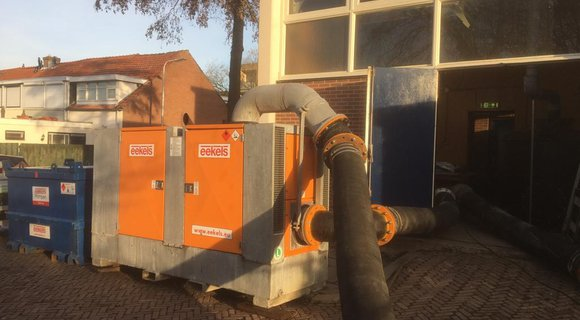 Emergency job: burst sewer pipe in Zwijndrecht